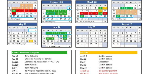 High Calendar 2019-2020 peter update
