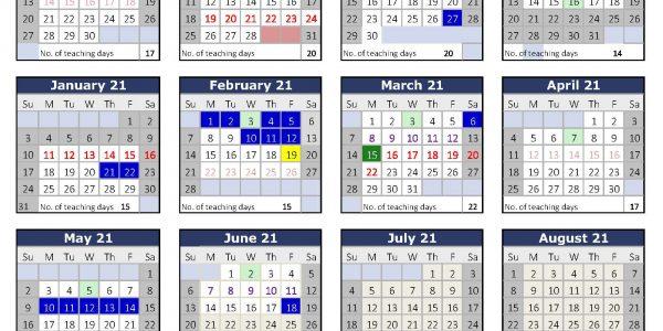 Primary Calendar 2020-2021